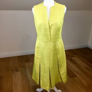 Vintage 100% Silk Swiss Made Ribbed Midi Dress